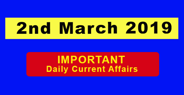 2nd March Daily Current affairs