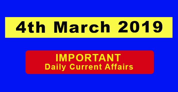 4th March Daily Current affairs