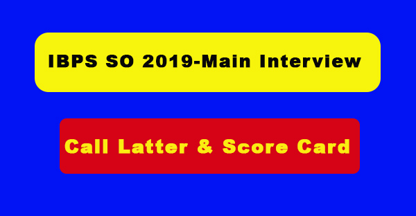 IBPS SO 2019-Main Interview