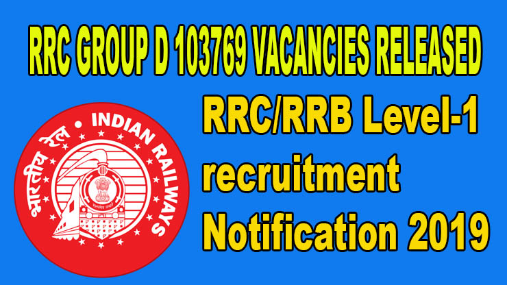 RRB Level-1 Notification 2019