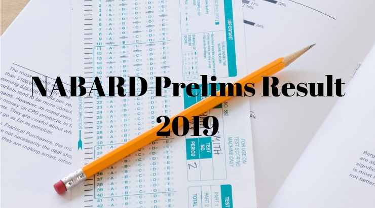 NABARD Prelims Result 2019