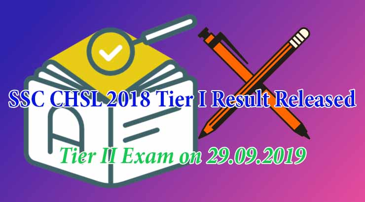 SSC CHSL 2018 Tier I result