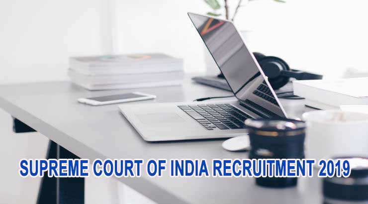 Supreme Court of India Recruitment 2019