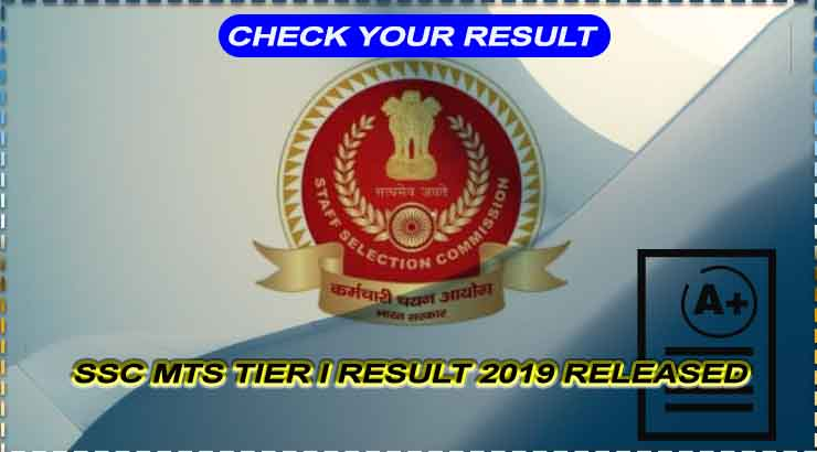 SSC MTS Tier I Result 2019