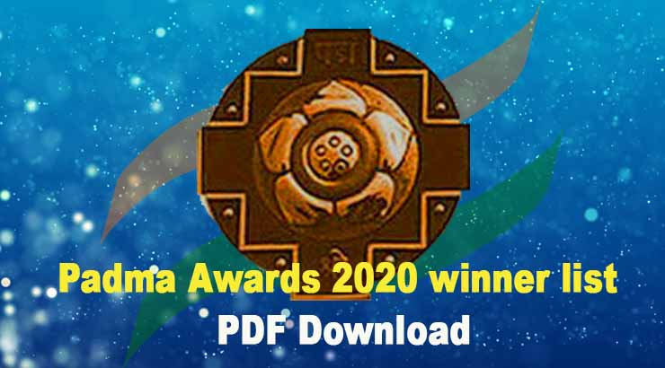 Padma Awards 2020 winner list