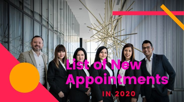 List of New Appointments in 2020