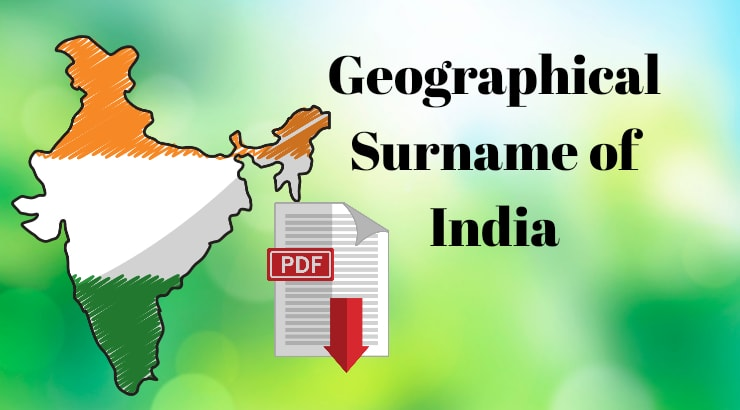 Geographical Surname