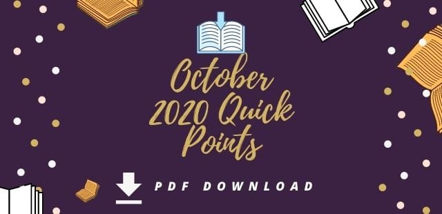 October 2020 Quick Points