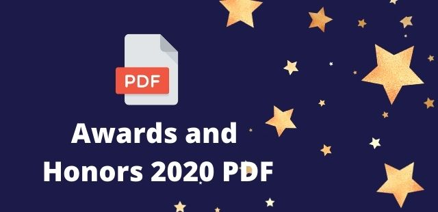 Awards and Honors 2020 PDF