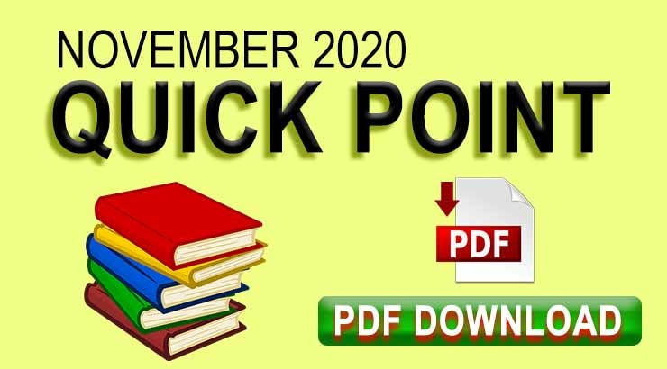 November 2020 Quick Points