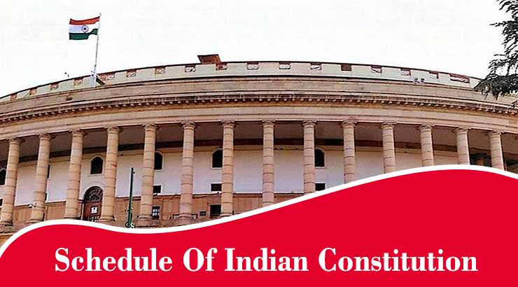 schedule of indian constitution