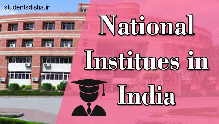 List of National Institutes of India